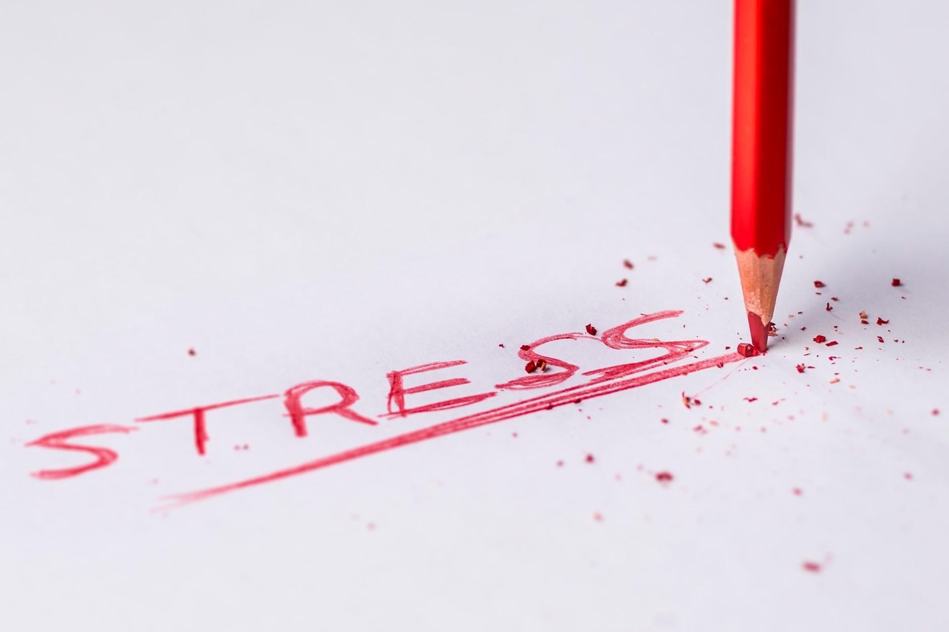 Canva Stress Handwritten Text on White Printer Paper - So werden wir mit Stress leichter fertig