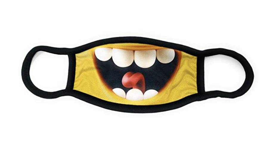 Maske lustig Zähne